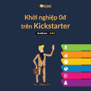 Khởi nghiệp 0 đồng trên kickstarter
