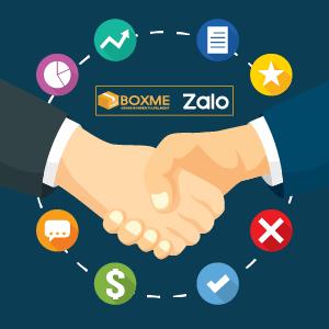 BoxMe bắt tay Zalo: Ưu đãi lớn cho người bán hàng