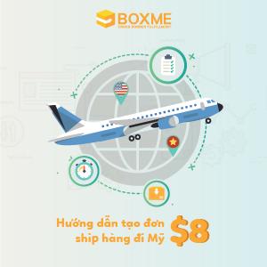 Hướng dẫn tạo đơn lẻ USPS đi Mỹ trên hệ thống Boxme