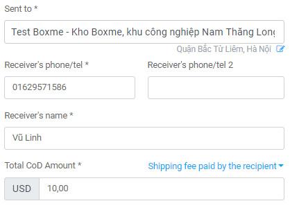How to create orders on Boxme system 7