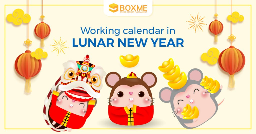 Boxme Global working calendar in Lunar New Year 2020 1