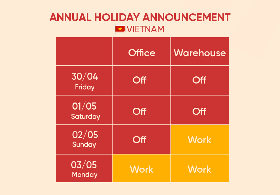 Annual Holiday Announcement 3