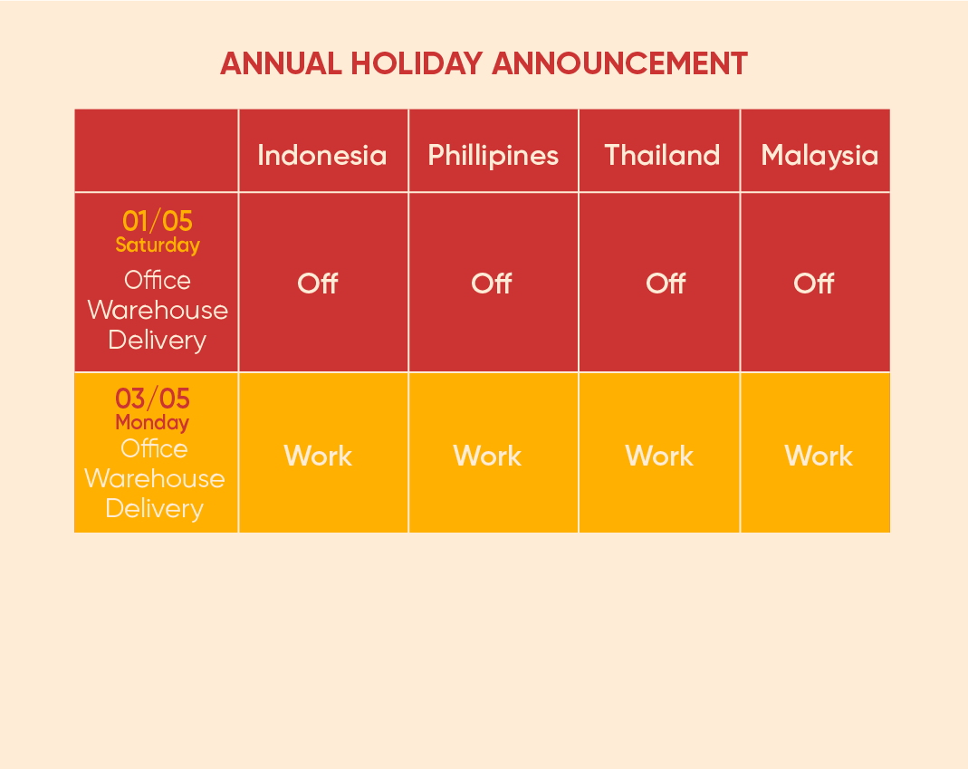 Annual Holiday Announcement 4